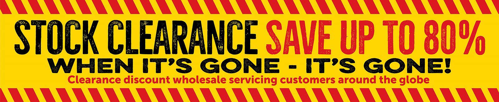 Clearance items wholesaler